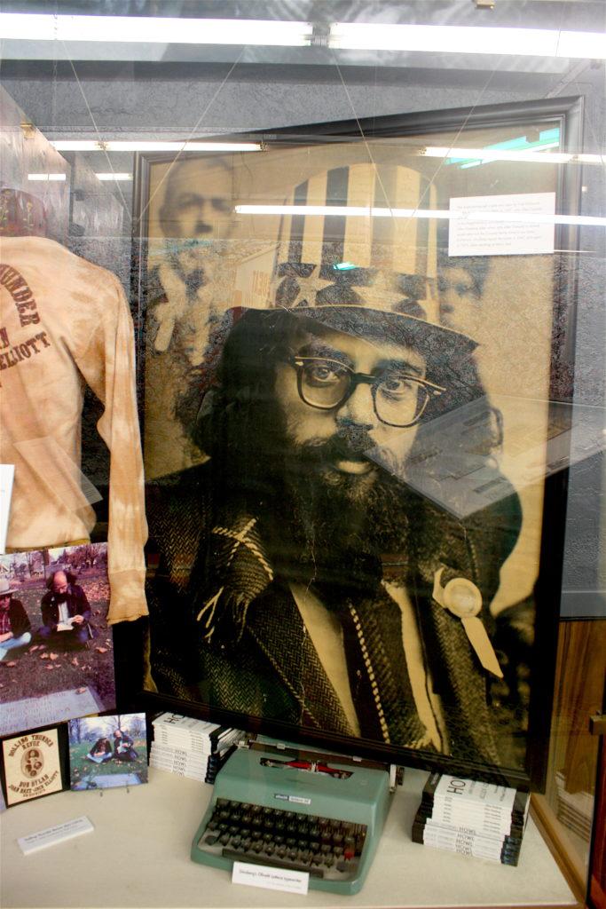 Beat Museum, San Francisco, Allen Ginsberg, photograph of Allen Ginsberg, Allen Ginsberg's typewriter, American literature, American poetry, Beat generation, Beat poetry, Jack Kerouac, American culture, museum, museums in San Francisco, literature in San Francisco, books, literary San Francisco, travel