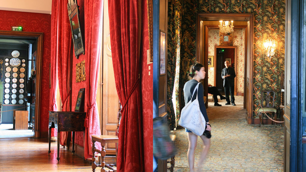 tourist, visitor inside Victor Hugo's home, Place des Vosges, 6 Place des Vosges, Maison de Victor Hugo, house of Victor Hugo, Marais, museum, museums in Paris, Bastille, Paris, writer's homes, writer's homes in Paris, French literature, French writers