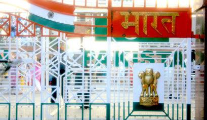 Independance day wagah border gate